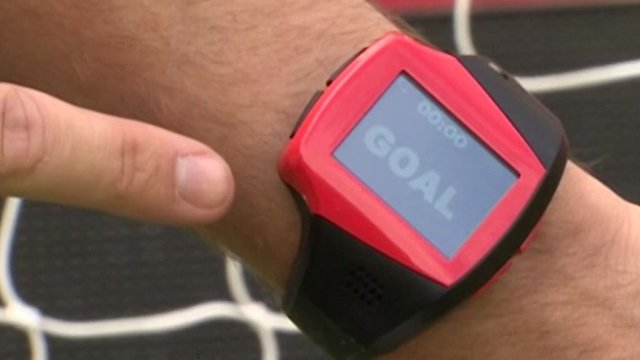 Watch used in goal line technology