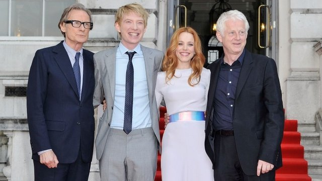 About Time cast with director Richard Curtis