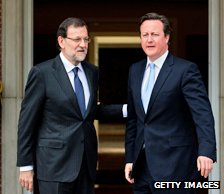 Mariano Rajoy and David Cameron