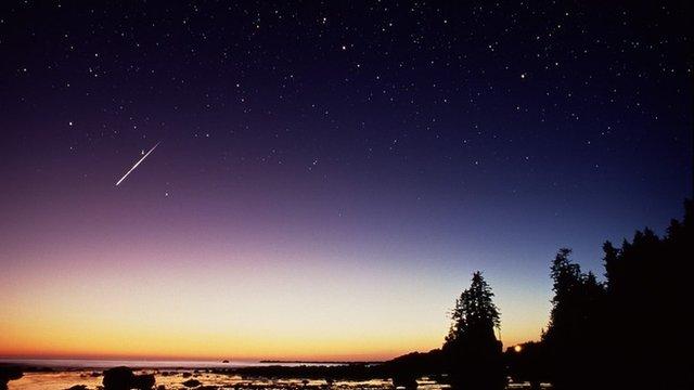 Perseid meteor trail