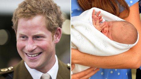 Prince Harry and Prince George