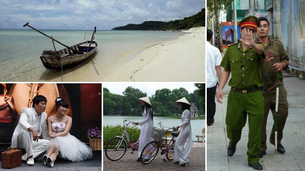 Composition photograph of scenes in Vietnam