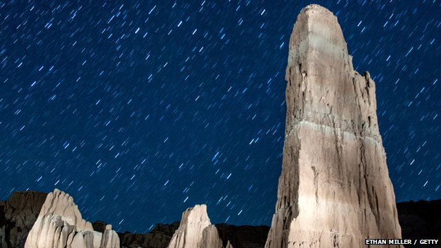 Perseid meteor shower photographed in Nevada, 12 August 2013