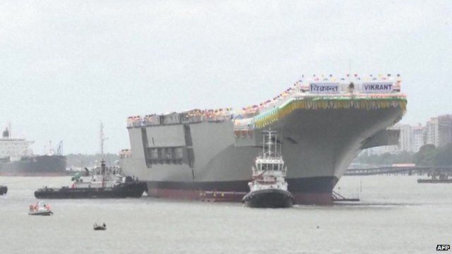 The 37,5000 tonne aircraft carrier was built in Kerala.
