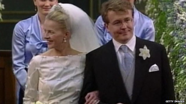Prince Friso on his wedding day
