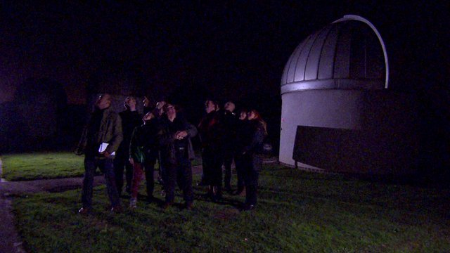 Skygazers gathered at Bayfordbury Observatory in Hertfordshire