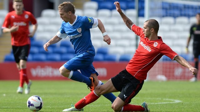 Cardiff City in a pre-season friendly match