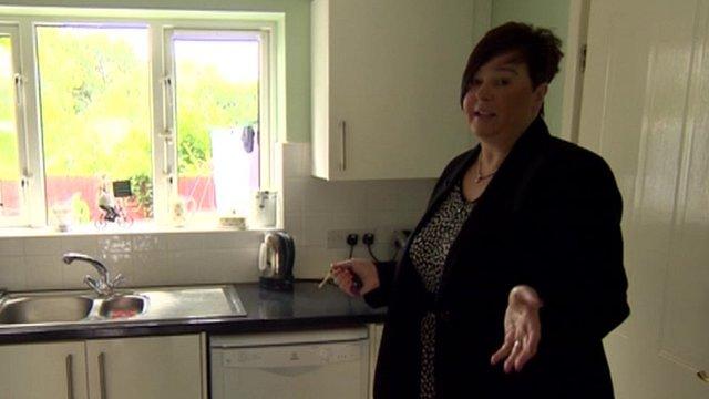 Estate agent Jayne Morris in kitchen