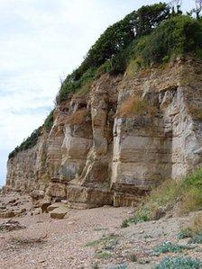 Eroding sandstone cliffs