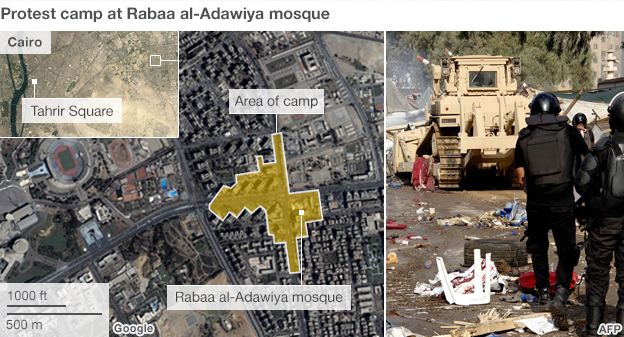 Map of Rabaa camp
