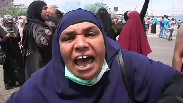 Unnamed female pro-Morsi protester