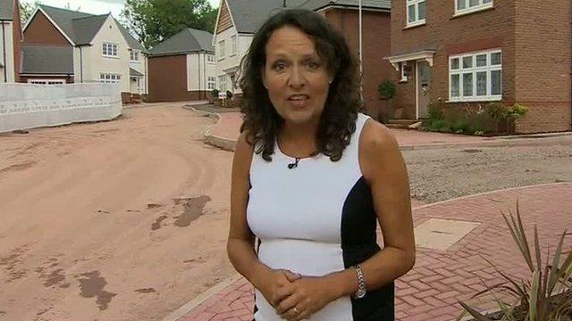 Sarah Dickins on a new housing estate in Pontypool