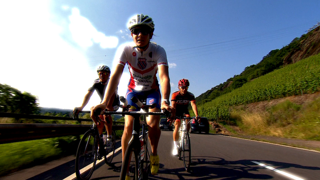 World Ironman champion Leanda Cave at her training camp in Germany