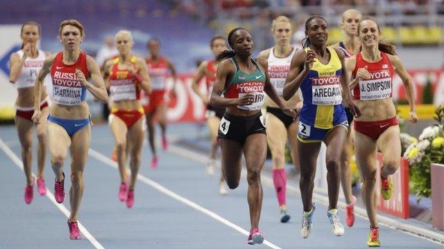 Abeba Aregawi wins the 1500m