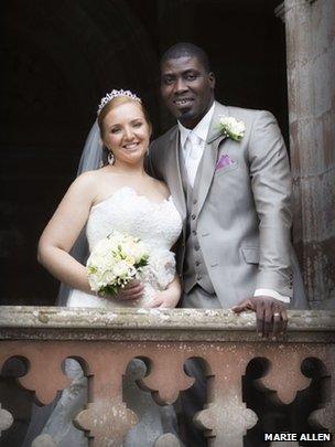 Kirsty Crooks married Prince Mustapha Oniru of Lagos in Loughall village