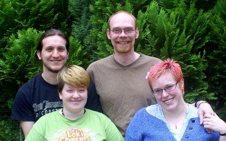 From top left, clockwise: Chris, Tom, Charlie, Sarah