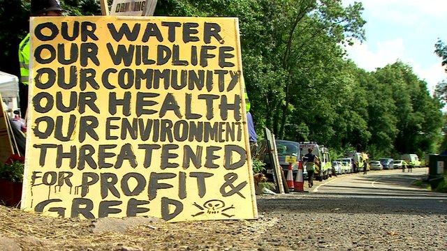 Protest poster against fracking