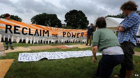 Reclaim the Power camp