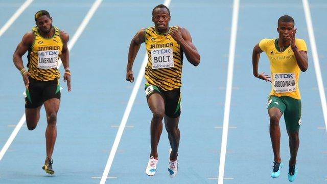 Usain Bolt wins his 200m semi