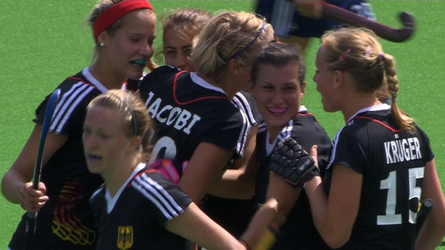 Germany's women celebrate victory over England