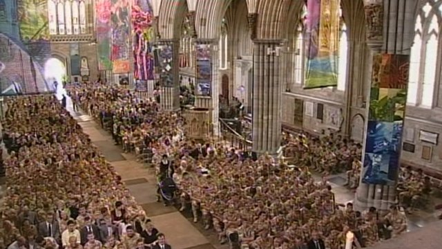 Exeter Cathedral service