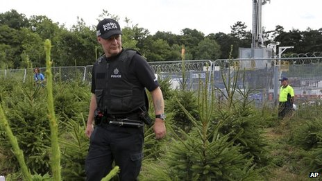 Sussex Police patrol the area