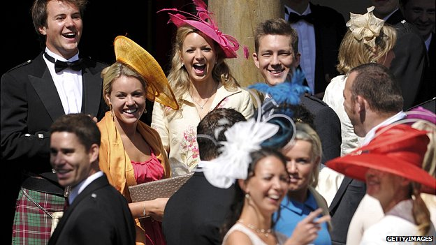 Guests at Zara Phillips wedding
