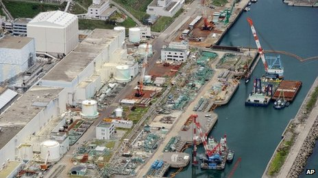 Aerial photo taken on 9 July 2013 of the Fukushima Dai-ichi nuclear power plant in Fukushima prefecture, northern Japan