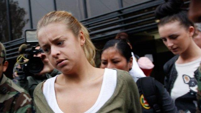 Michaella McCollum and Melissa Reid leave for court