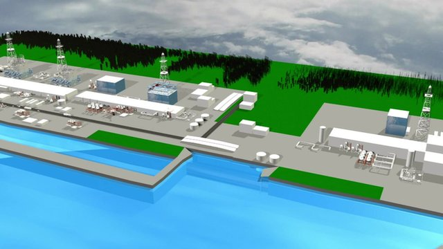 Graphic depiction of the Fukushima nuclear plant