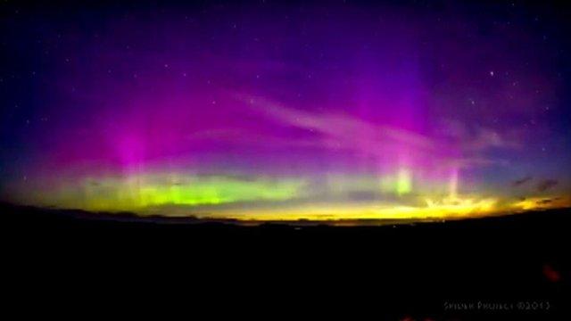 Macieji Winiarczyk captured the light show shortly after sunset