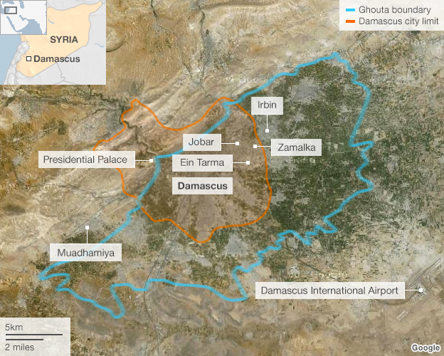 Map of Damascus Ghouta