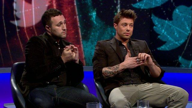 Antony Costa and Duncan James on Newsnight