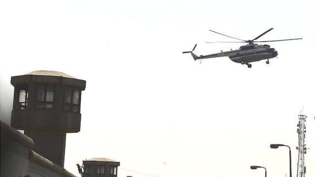 Hosni Mubarak is flown out of Tora prison in Cairo