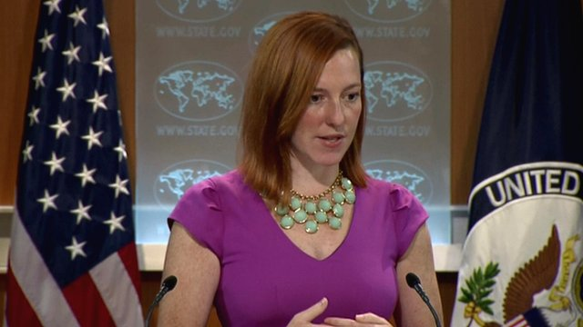 US State Department spokeswoman Jen Psaki