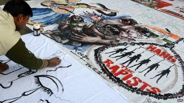 File photo of Indian rape protest in Delhi