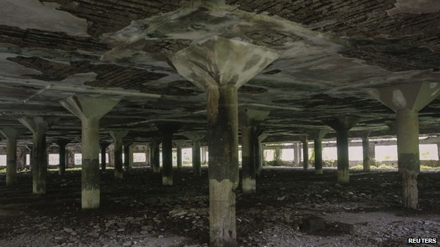 The abandoned textile mill where a photojournalist was raped by five men in Mumbai on August 22, 2013
