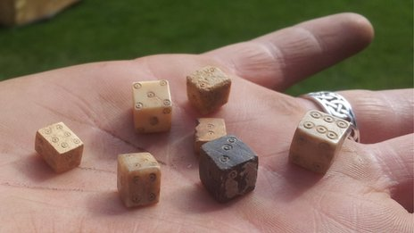 Dice at Lincoln Castle