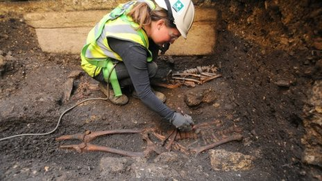 The skeletons are uncovered