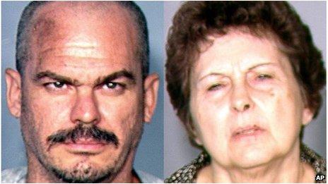 David Allen Brutsche, 42, (left) and Devon Campbell Newman, 67
