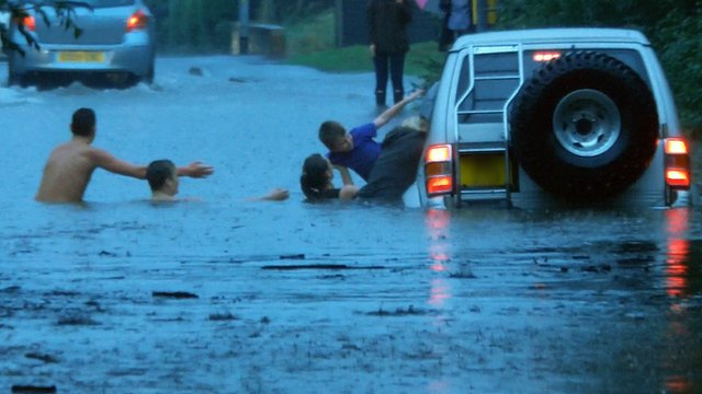 Family rescued from flooding in Hockley