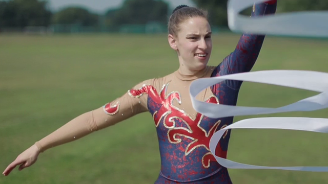 Special Olympic gymnast Hannah Westerman