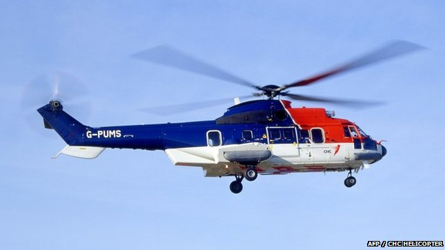 Eurocopter AS332 Super Puma L2 variant, the same model as the one which crashed off Shetland