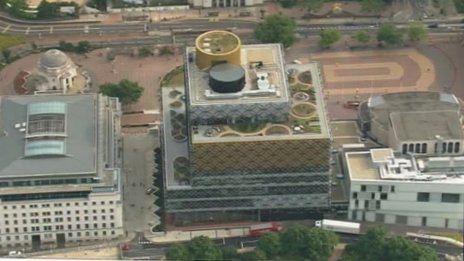 Aerial view of library