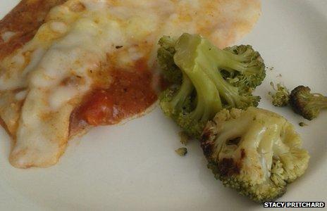 Broccoli and lasagne