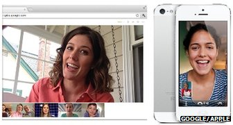 Google Hangouts and Facetime