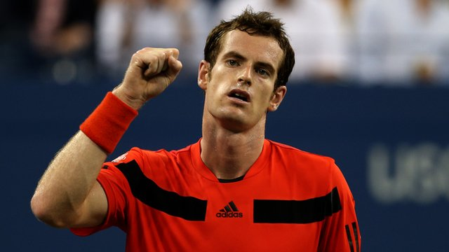 Andy Murray celebrates win over Michael Llodra
