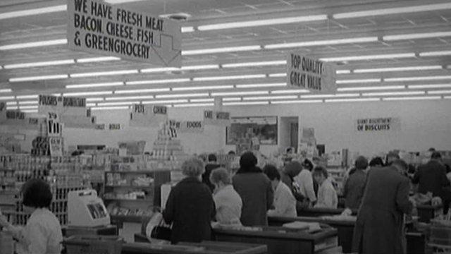 Inside the Asda hypermarket in West Bridgford in 1966