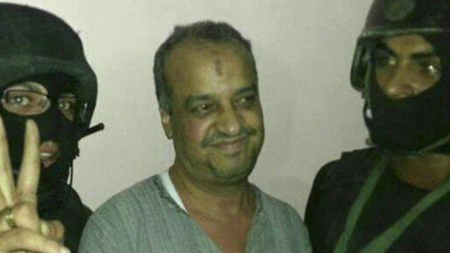 Mohammed al-Beltagi (centre)
