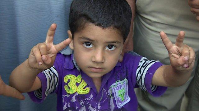 Young child in Jordan